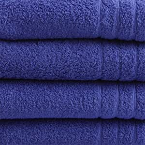 "16 tlg. Handtuchset ""Selmin"" 2x Badetücher 100x150 cm, 2x Duschtücher 70x140 cm, 4x Handtücher 50x100 cm, 4x Gästetücher 30x50 cm, 4x Waschhandschuhe 16x21 cm in Royalblau, 100% Baumwolle 600 g/m²"