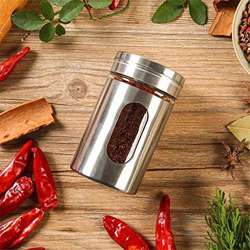 Ahui Spice Jar Condiments Dosen Gewürz Flasche Lagerung Grill Party Kochen und Essen 80ML - Set 5