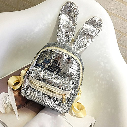 TianranRT , Damen Rucksackhandtasche Silber