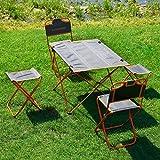 OUTAD tragbare Klapptisch Camping Ausflüge im Freienpicknick-Oxford-Gewebe Tisch -