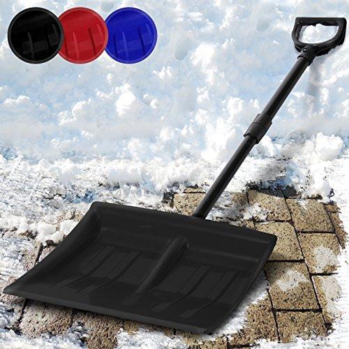 Jago Schneeschaufel Schneeräumer einzeln oder im zweier Set mit Farbwahl inkl. Stiel aus Stahlrohr