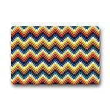 Dalliy Farbe Streifen Muster Fu?matten Doormat Outdoor Indoor 23.6