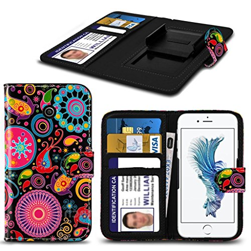Kazam Tornado 350 HŸlleBrieftaschen-Etui Pouch PU Leather [Jelly fish] PRINTED DESIGN HŸlleDesign Spring Clamp [Clip on] Adjustable Book Style Flip Skin HandyhŸlle by i-Tronixs¬
