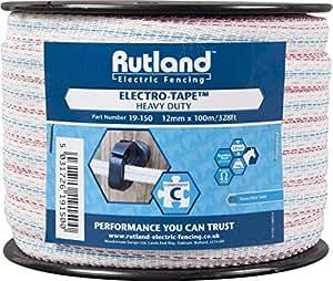 Rutland 19-150R Ruban à clôtures électriques 12 mm x 100 m
