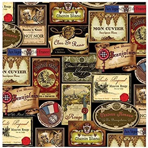 Thirstystone 4-Piece French Wine Labels Coaster Set by Thirstystone - French Wine Label