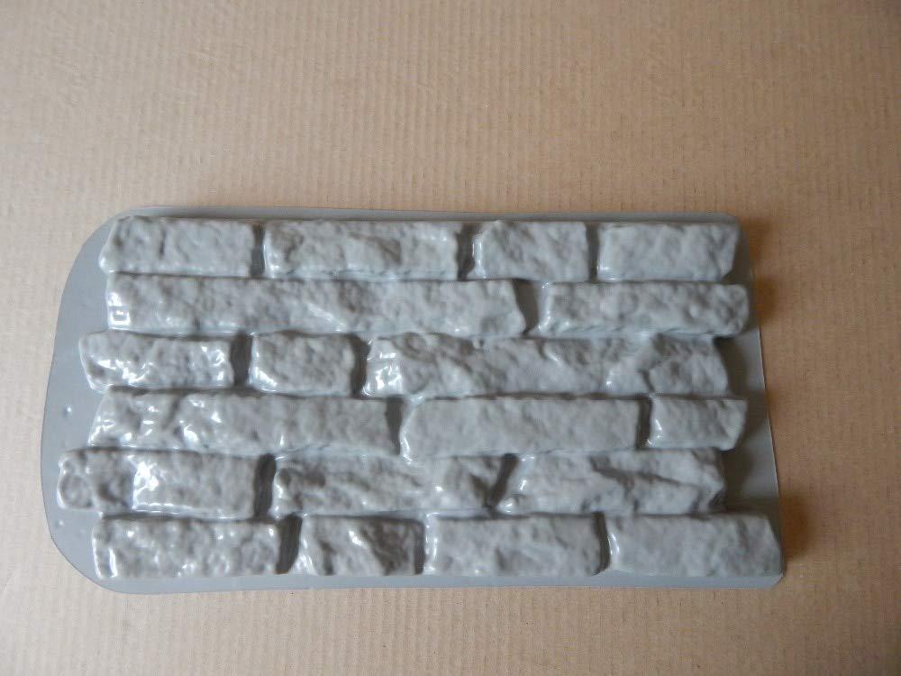 JDSJFKLS Muebles de jardín Moldes De Plástico para Hormigón Y Baldosas De Cemento De Piedra De Yeso Dovetail para La Pared Decorativa Moldes Plásticos