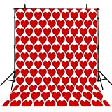 Photography Backgrounds Heart 10Feet-10Feet Photo Backdrops Red Backgrounds Computer Printed Vinyl Photography Background