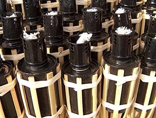 iapyx® 16x Gartenfackel Bambusfackeln Party Öllampen Fackeln inkl. Dochte ( W42 )