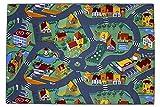 Autoteppich Kinderteppich Spielmatte Straßenteppich 95x200 cm Kinderzimmerteppich Läufer Kinder Teppich
