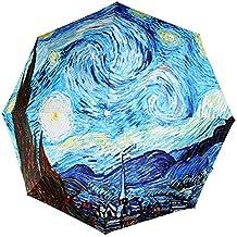Paraguas plegable MyLifeUNIT con diseño de pintura de Van Gogh