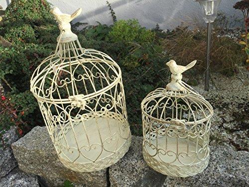Dekokäfig Vogel Pflanzkäfig Käfig Vogelkäfig Paar 2er Set Shabby Antik Stil