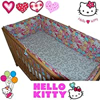 HELLO KITTY® Bumper Set - for Baby Kid Child Cot Bed Bedding 100% Cotton