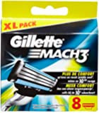 Ancienne Version Gillette Mach3 Lames de Rasoir Pack de 8
