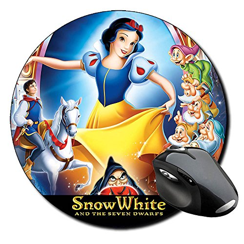 Blancanieves Y Los Siete Enanitos Snow White And The Seven Dwarfs Mauspad Round Mousepad PC (Blancanieves Y Los Siete Enanitos)