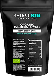 Nature Diet Organic, curcuma in polvere, 1000 g