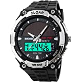 SKMEI Solar Power Dual Time Sports Military Watch Waterproof Wristwatch for Men and Women