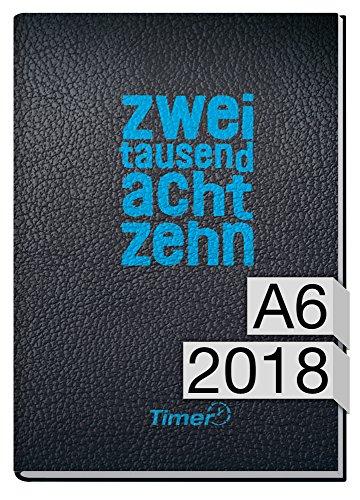 Chäff-Timer mini A6 Kalender 2018 [zweitausendachtzehn] 12 Monate Jan-Dez 2018 - Terminkalender mit Wochenplaner - Organizer - Wochenkalender