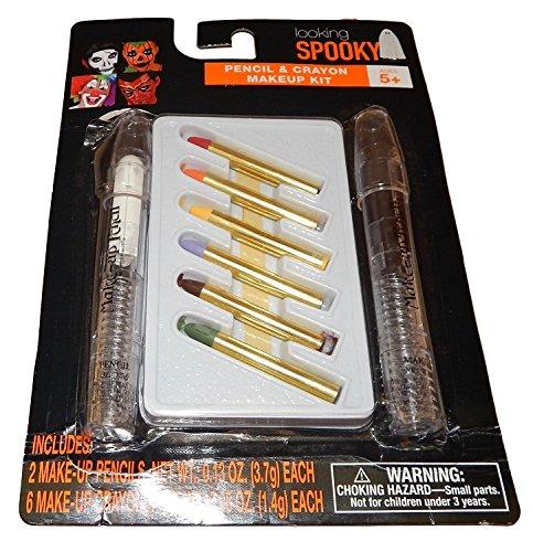 Halloween Make-up Kit aussehende Spooky Fett Bleistift & Farbstift Make-up 8 teilig