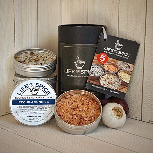 Life of Spice Gourmet Salt Gift Collection - Confezione Regalo di 5 Sali Life of Spice (75 g l'uno)