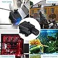 Decdeal 4.8W USB Tauchpumpe Aquariumpumpe Förderpumpe Brunnenpumpe mit Fluss-Einstellung 300L/H, Max Höhe 3 Meter, Inkl. Filter