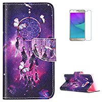 Samsung Galaxy J5(2017)/J520 Wallet Case,Samsung Galaxy J5(2017)/J520 Flip PU Leather Case,KaseHom [with Free Screen Protector] Colourful Printing Pattern Design Magnetic [with Function Card Slots] [Kickstand] Notebook Style Slim Durable Anti Scratch Prot