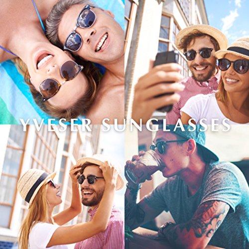 f150304febc9 Yveser Polarised Clubmaster Sunglasses for Men and Women Yv5156 ...