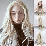 26 '' Parrucca ondulata lunga naturale Ombre #613 bionda parrucca media separazione capelli sintetici per le donne