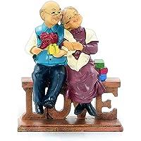 Aoneky Statuetta per Matrimonio 50 Anni di Nozze d'oro Anniversario di Matrimonio Presente (Love)