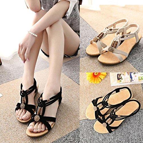 Bild von VJGOAL Damen Sandalen, Frauen Mädchen böhmischen Mode Flache beiläufige Sandalen Strand Sommer Flache Schuhe Frau Geschenk