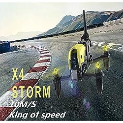 Hubsan H122D X4 Storm Racer Drone 720 Caméra 360 Filps (H122D Standard)