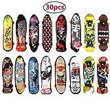 BETOY Skateboard Finger, 30PCS Mini Skate Board Professionale Mini Dito da Skateboard per Bambini Compleanno, Regali di Natale, Regali, Premi per Lezioni Scolastiche(Colore Casuale)