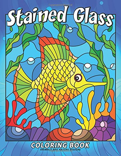 Stained Glass Coloring Book: Stress Relieving Unique Design