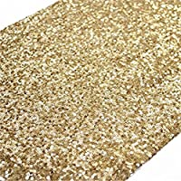 """TRLYC Gold Sparkly Sequin Table Runner for Wedding/Party -12""""*72"""""""
