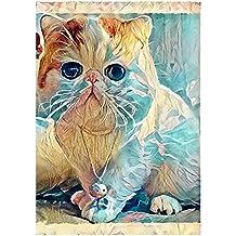 Diamante pintura, nelnissa 5d Diamond gato pintura para bordado de Mosaic Kit de punto de cruz, diseño de decoración para el hogar