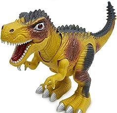Walking Elektrische Dinosaurier Spielzeug, mamum Kinder Spielzeug Walking Dinosaurier Spielzeug Figur mit Lights & Sounds, echte Bewegung Einheitsgröße a