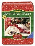 Ravensburger Puzzle 07546 Verschmuste Weihnachten 80 Teile in der Metalldose