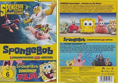 Spongebob Schwammkopf - 2 Schwammtastische Kino-Abenteuer - Deutsche Originalware [2 DVDs] (Spongebob Schwammkopf Dvd-box)