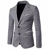 ITISME TOPS Charm Herren Casual Slim Zwei Tasten Fit Anzug Blazer Mantel Gitter Jacke Tops