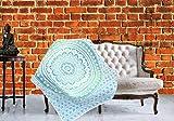KraftDirect Schimmel Decke, Indigo Decke Shibori, Tie Dye Dekorative Decken für Sofa, Polsterdecken für Sofa, Couch Throw - 50x60 inches Mandala Mehrfarbig