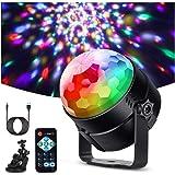 Litake Discobol, discolicht, led (upgrade 6 W), feestlicht, 7 kleuren, kleurverandering, muziekgestuurd, podiumverlichting me