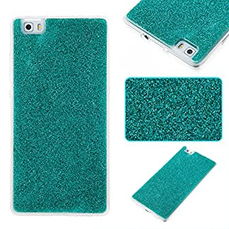 COZY HUT Luxury Bling Glitter Sparkle Case for Huawei P8 Lite Shockproof Case Shining Shock Absorption TPU Bumper Protective Phone Case Cover for Huawei P8 Lite - green 14