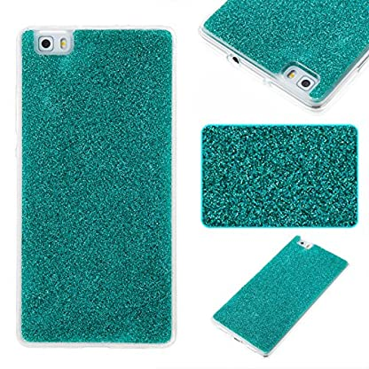 COZY HUT Luxury Bling Glitter Sparkle Case for Huawei P8 Lite Shockproof Case Shining Shock Absorption TPU Bumper Protective Phone Case Cover for Huawei P8 Lite - green 1