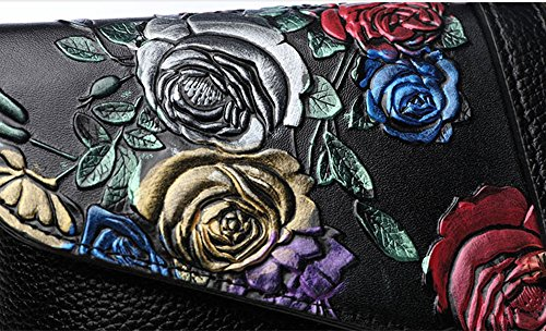 Guofeng originale strato originale di sacchetto di cotone in pelle, borsa a mano, frizione femminile, borsa a tracolla ( Colore : Butterfly ) Dragonfly