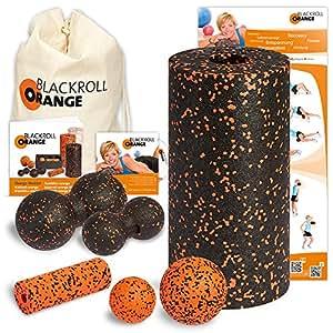 Blackroll Orange (Das Original) DIE Selbstmassagerolle – Komplett-Set STANDARD mit miniBAG, Übungs-DVD, -Poster und -Booklet