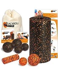 Blackroll Orange (Das Original) DIE Selbstmassagerolle - Komplett-Set STANDARD mit miniBAG, Übungs-DVD, -Poster und -Booklet