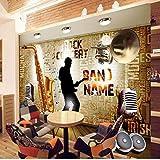 Carta Da Parati Vintage Foto Rock Foto 3D Strumento Musicale Bar Ktv Sfondo Stereo Personalizzato Murale Soggiorno 18,15/1㎡