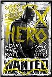 Batman vs Superman - Batman Hero, Official Licensed Artwork, 3.5' x 5.2' - STICKER Pegatina DECAL