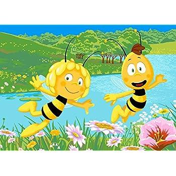 Amazon.de: Biene Maja Biene Maya mit Blumen Kinderteppich Teppich ...