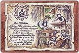 Geschenk Tischler Schreiner Tischlerei Blechschild 30 x 20 cm