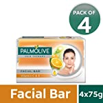 Palmolive Skin Therapy Facial Bar Soap with Vitamin C and E - 75g (Pack of 4)